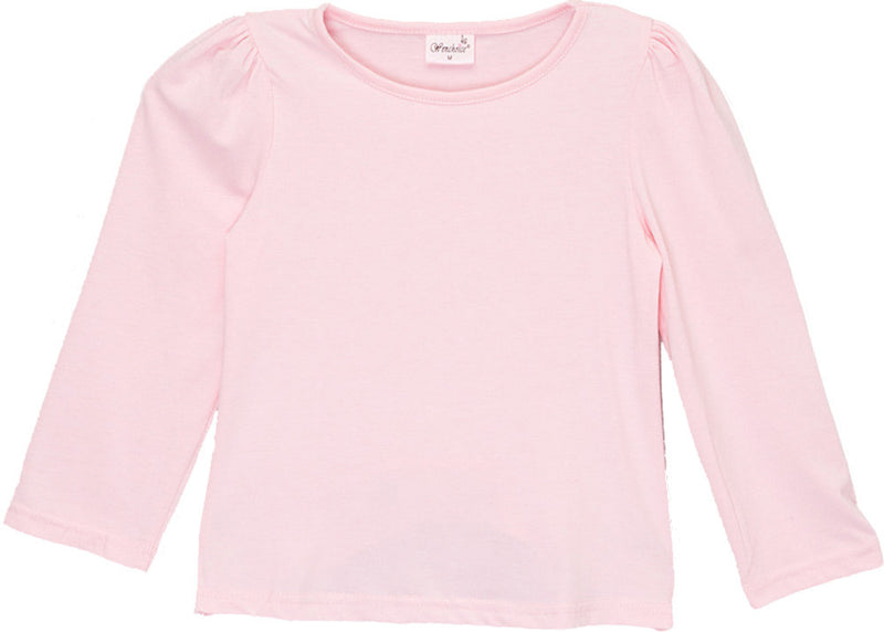 Pink Plain  Long Sleeve Shirt
