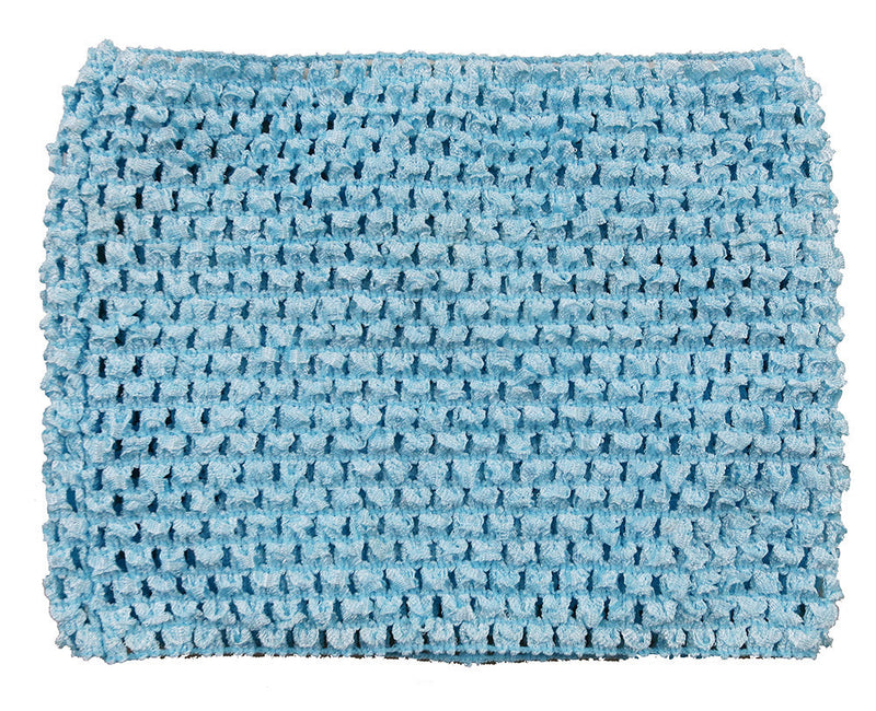 Blue Elastic Crochet Baby Top