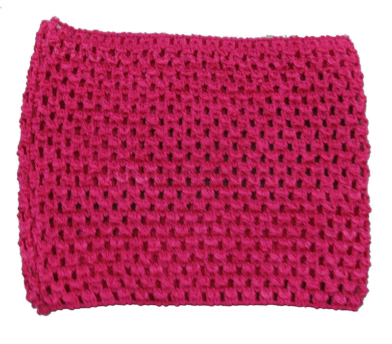 Hot Pink Elastic Crochet Baby Top
