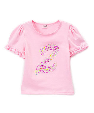 Pink No.2 Girl Short Sleeve Shirt