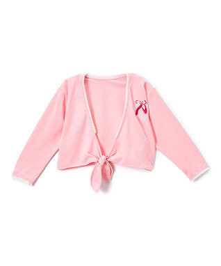 Pink Ballet Shoe Wrap Top
