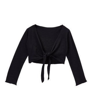 Black Ballet Wrap Top
