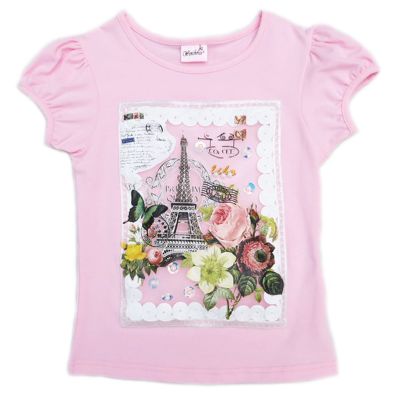 Pink Paris Short Sleeve Shirt