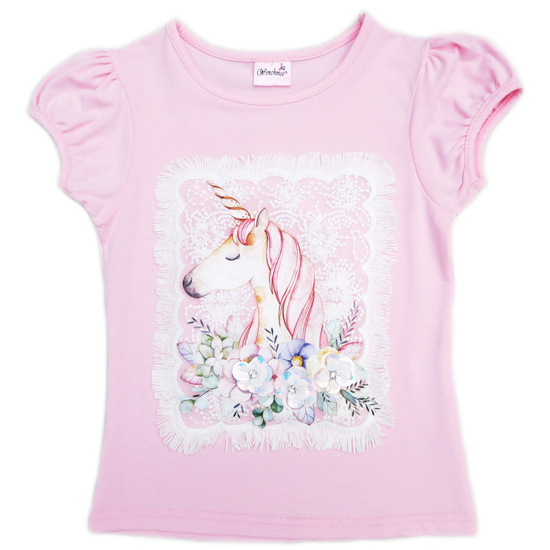 Pink Unicorn Short Sleeve Shirt