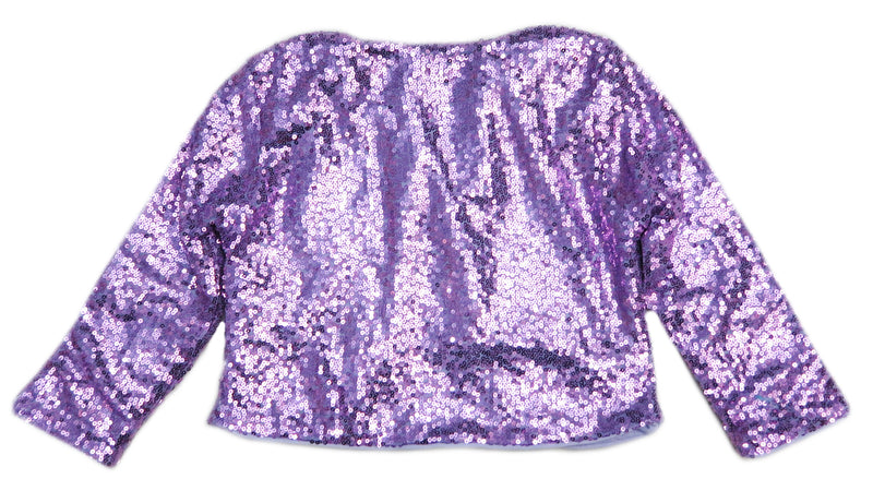 Lavender Sequins Wrap Top