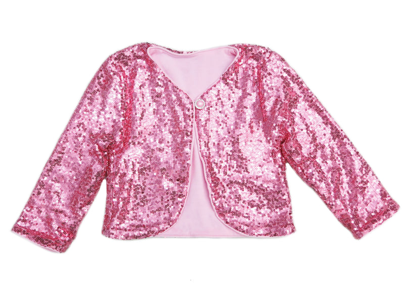 Pink Sequins Wrap Top