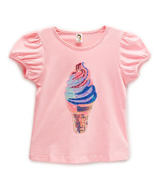 Pink Ice Cream Short Sleeve Shirt