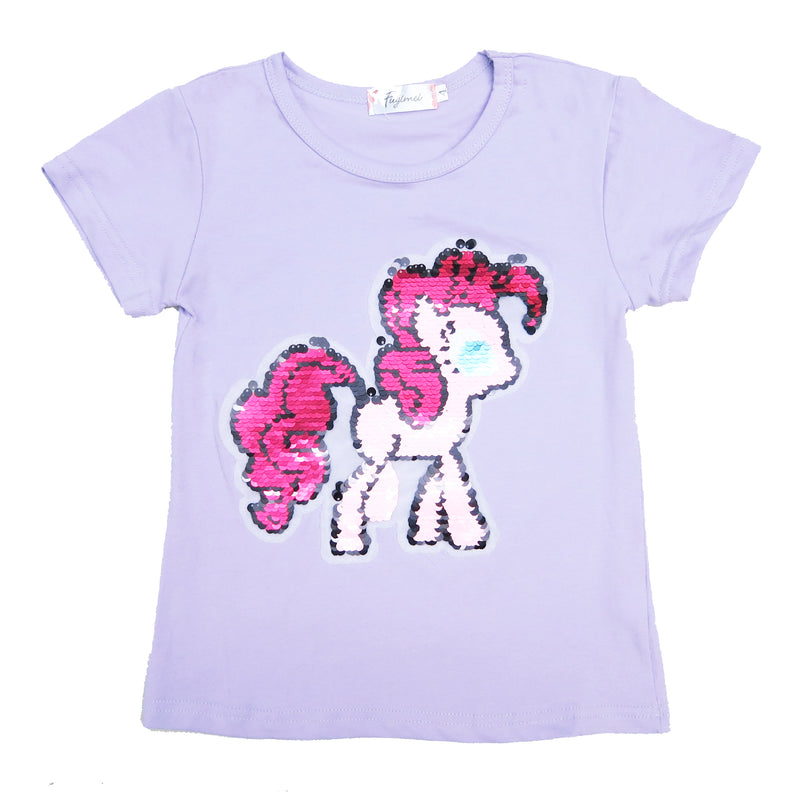Lavender Flip Sequins Little Pony T-Shirt
