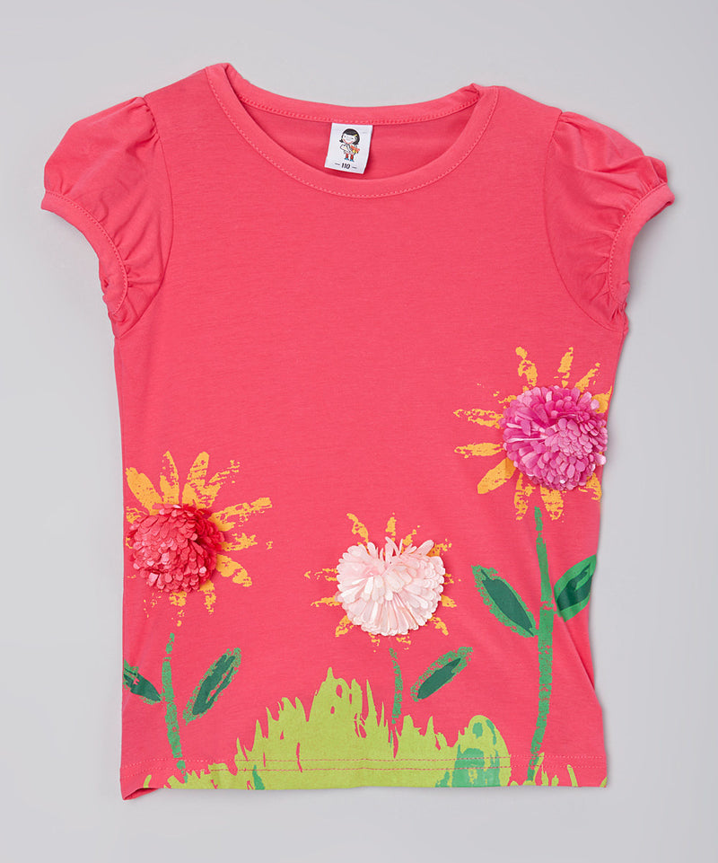 Hot Pink Daisy T-Shirt