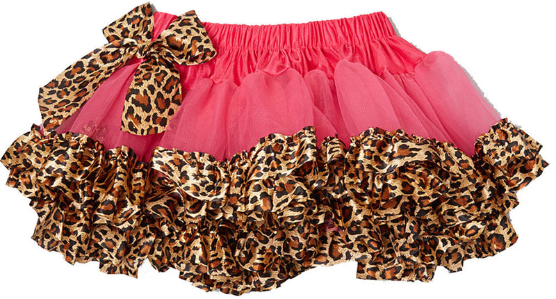 Hot Pink Tutu With Leopard Trim