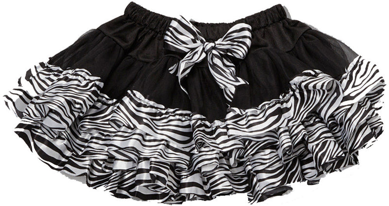 Black Tutu With Zebra Trim