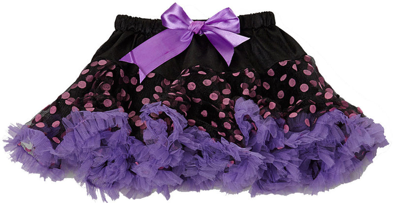 Black/Pink Dot Tutu With Purple Trim