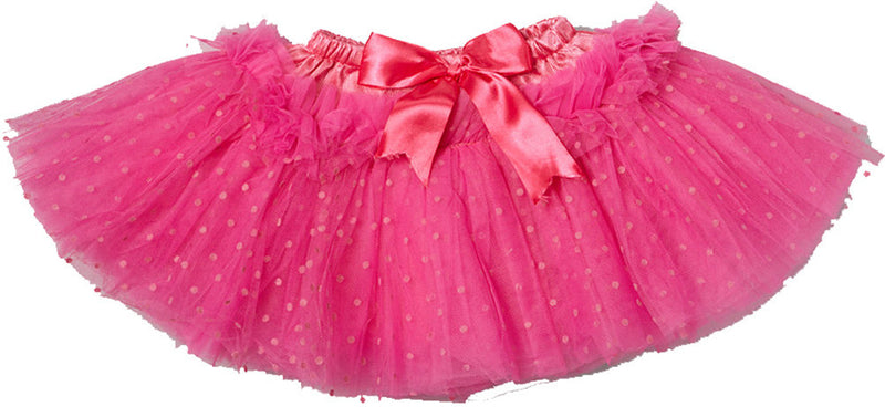 10 Layer Hot Pink Polka Dot Tutu