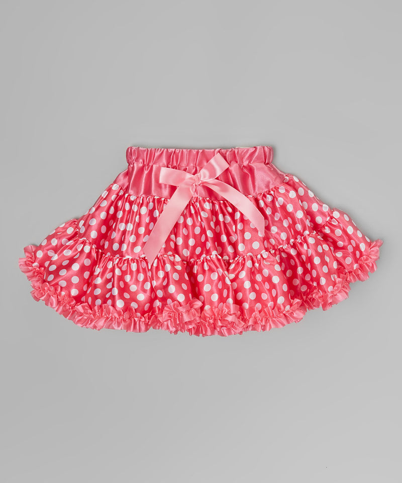 Hot Pink Minnie Satin Tutu With Hot Pink Trim