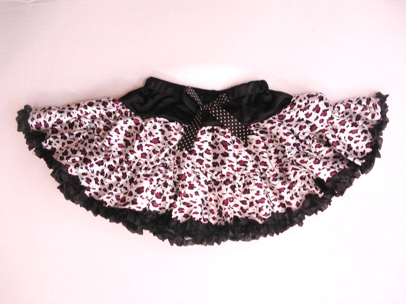 Purple Cheetah Satin Tutu With Black Trim