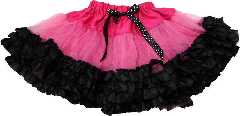 Hot Pink Tutu With 3 Black Trim