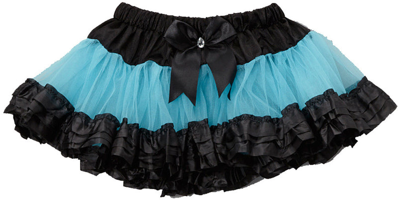 Blue Tutu With 3 Black Trim