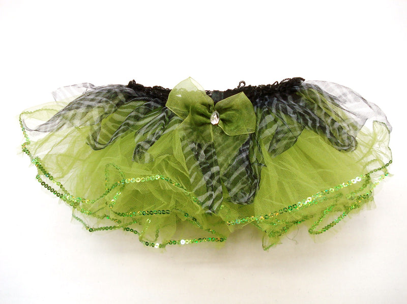 Green Baby Tutu With Zebra Trim
