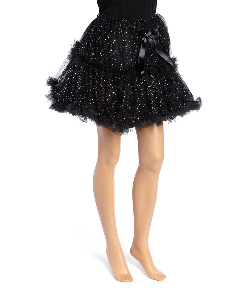 Sparkle Black Fluffy Adult Tutu