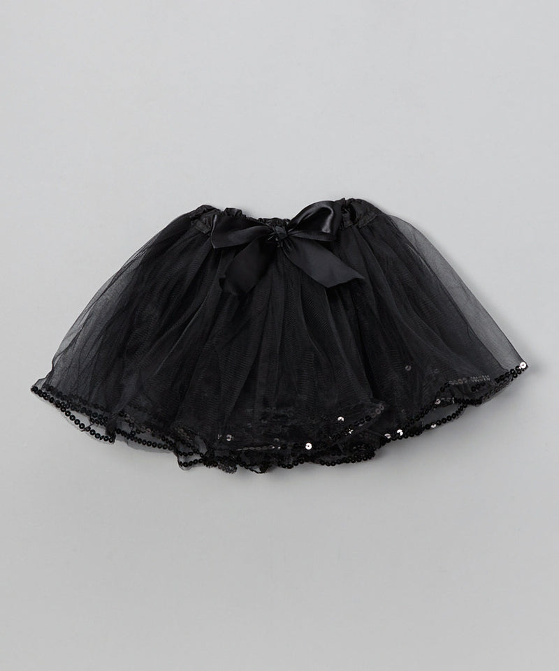 Black Tutu With Sequin Trim