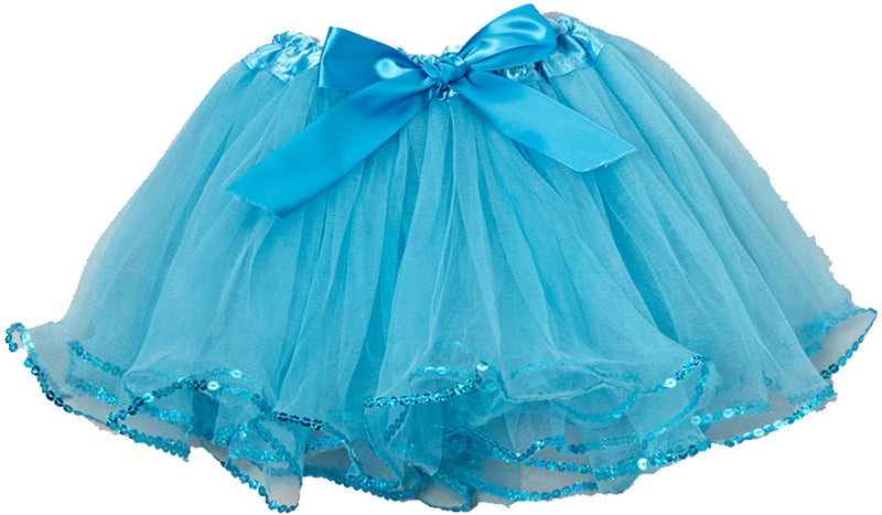 Blue Tutu With Sequin Trim