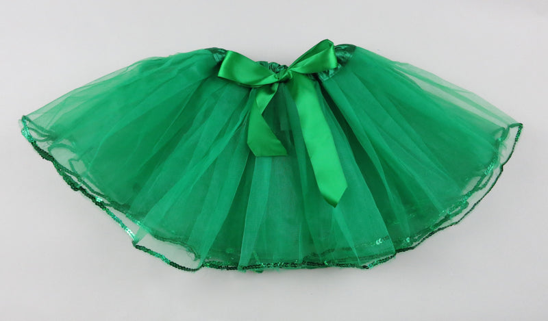 Forest Green Tutu With Sequin Trim