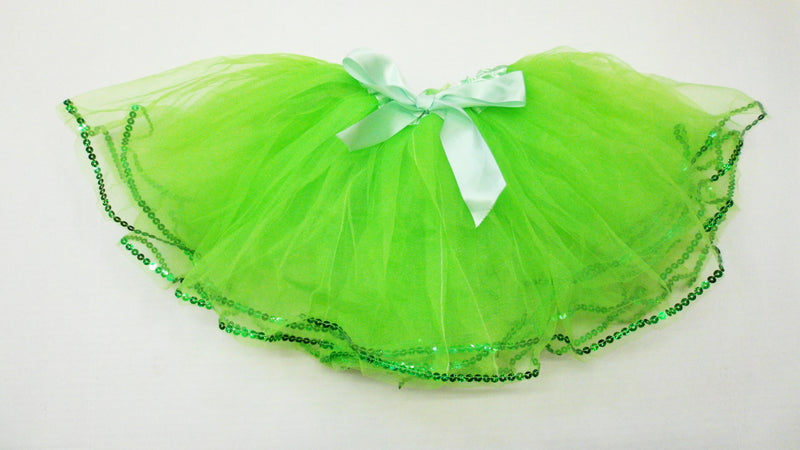 Lime Green Tutu With Sequin Trim