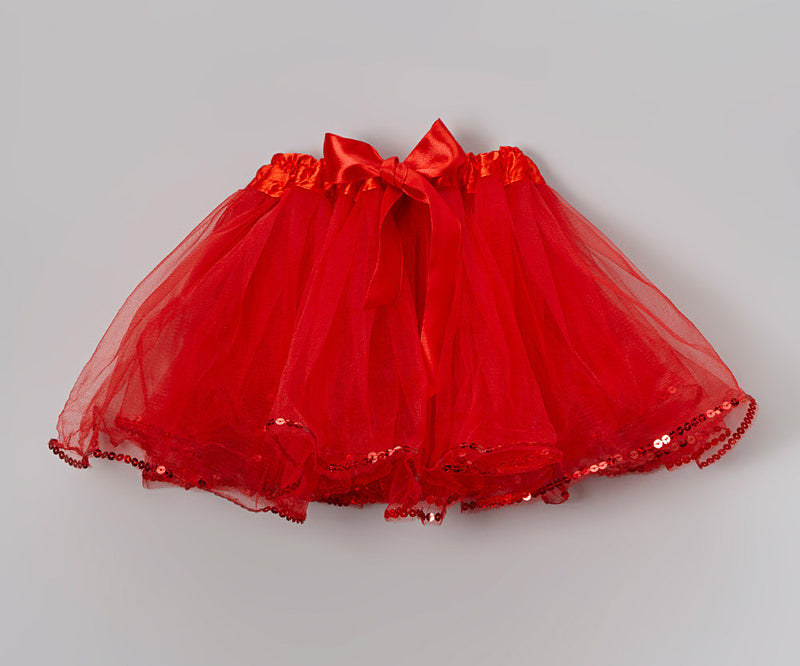 Red Tutu With Sequin Trim