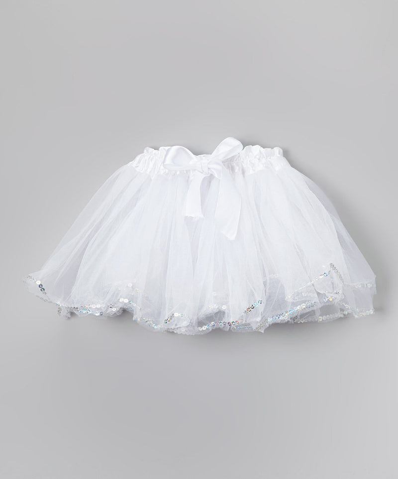 White Tutu With Sequin Trim