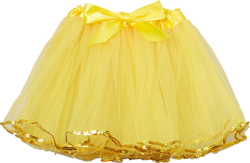 Yellow Tutu With Sequin Trim