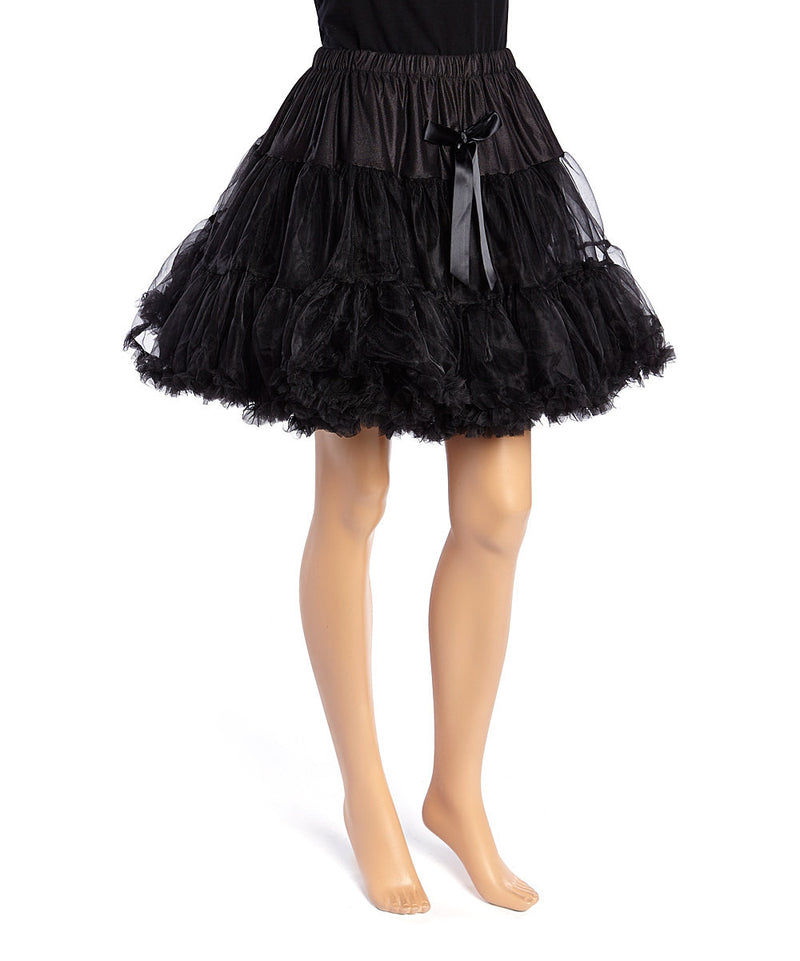 Black Chiffon Adult Petti Skirt