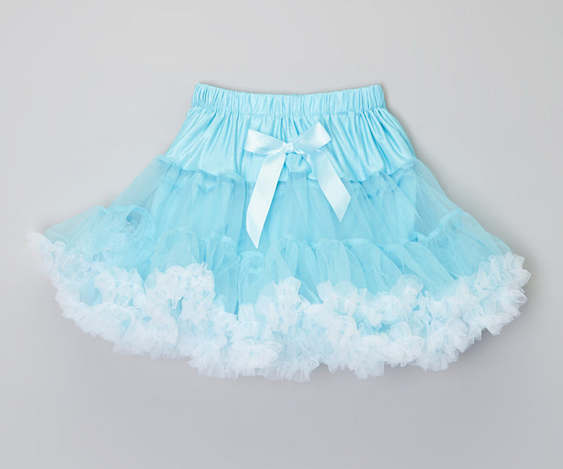 Baby Blue With White Trim Petti Skirt