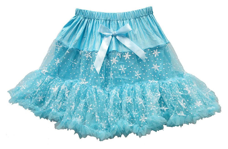 Blue Snowflake Adult Tutu