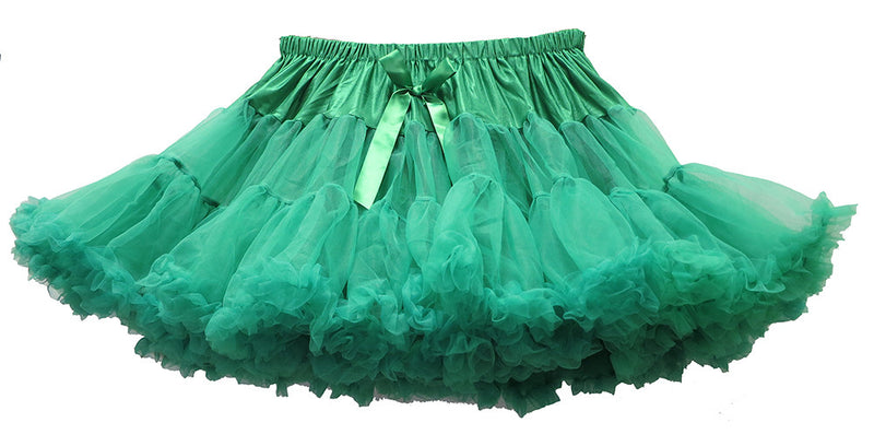 Green Chiffon Adult Petti Skirt