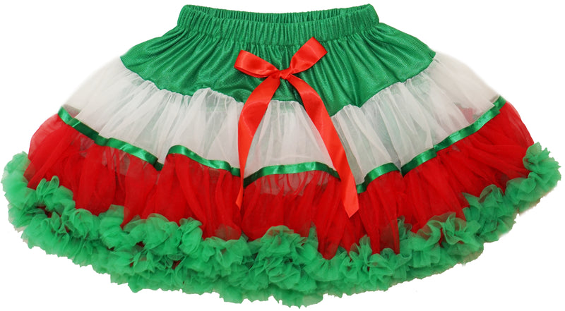 Red/White/Green Fluffy Pettiskirt