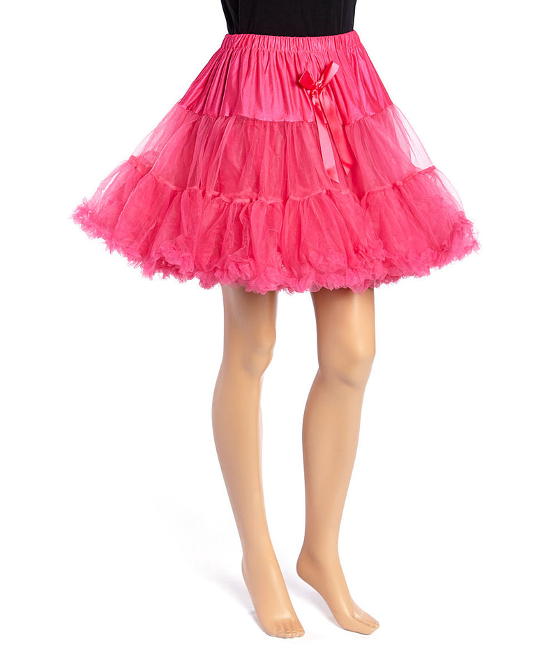 Hot Pink Chiffon Adult Petti Skirt