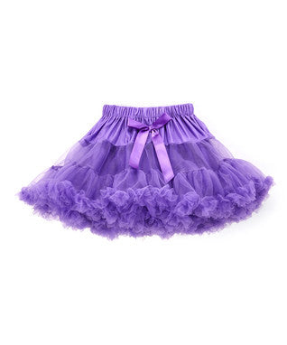 Fluffy Purple Chiffon Petti Skirt