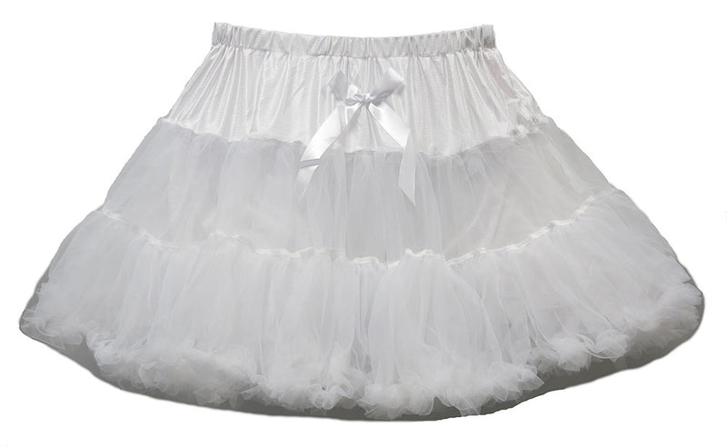 White Chiffon Adult Petti Skirt