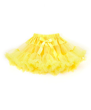 Fluffy Yellow Chiffon Petti Skirt