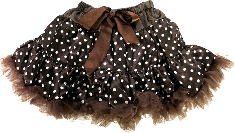 Brown Polka-Dot Satin Tutu