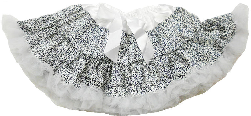 White Cheetah Satin Tutu