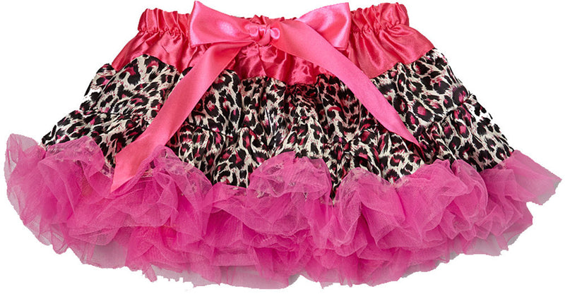 Hot Pink Cheetah Satin Tutu