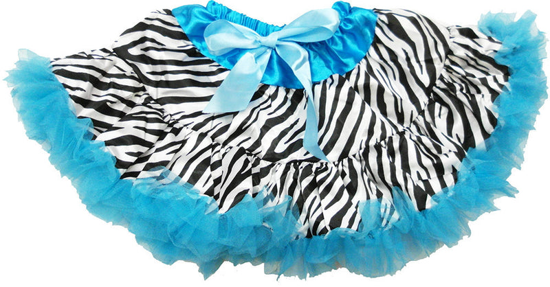 Blue Zebra Satin Tutu