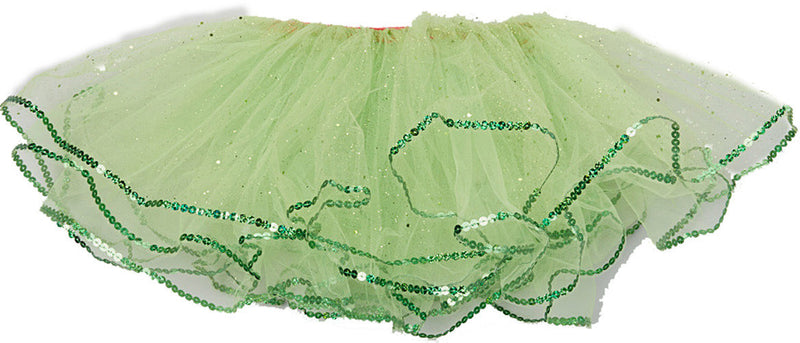 Lime Green Glitter Reversible Tutu