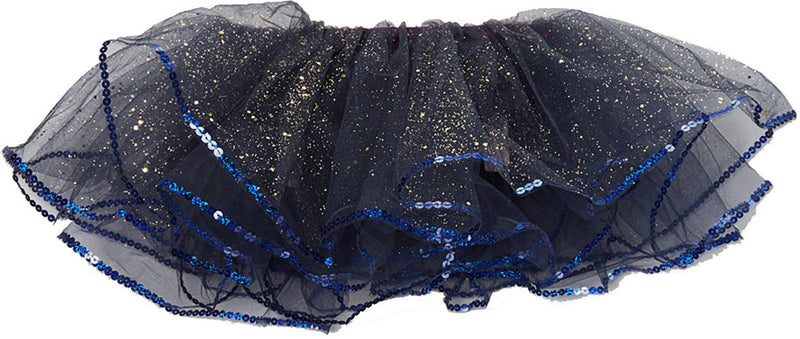 Navy Blue Glitter Reversible Tutu