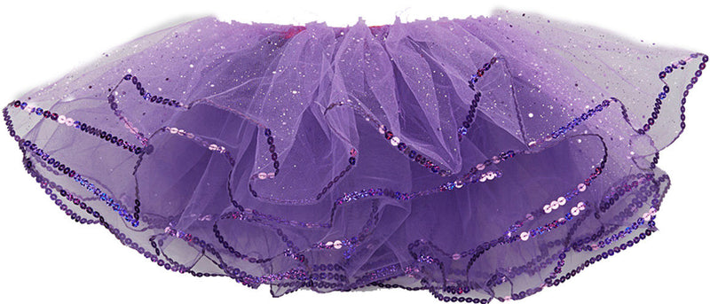 Purple Glitter Reversible Tutu