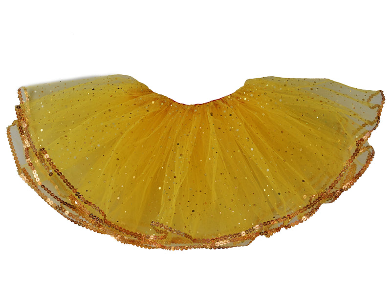 Yellow Glitter Reversible Tutu