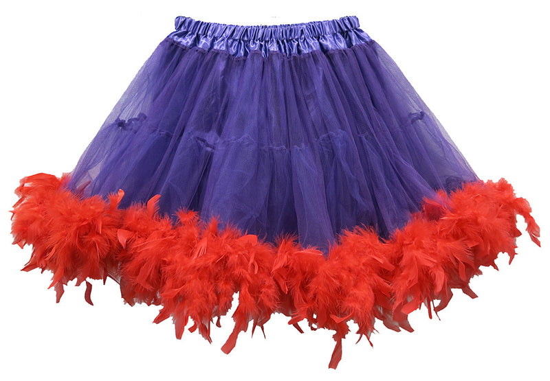 Purple Red Feather Adult Tutu