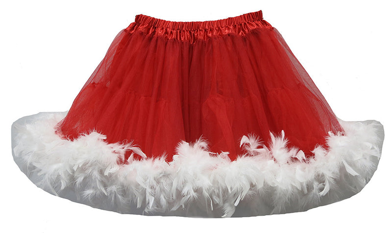Red White Feather Adult Tutu