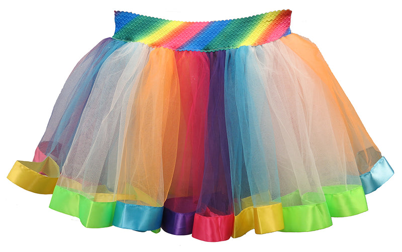 Striped Rainbow Adult Tutu